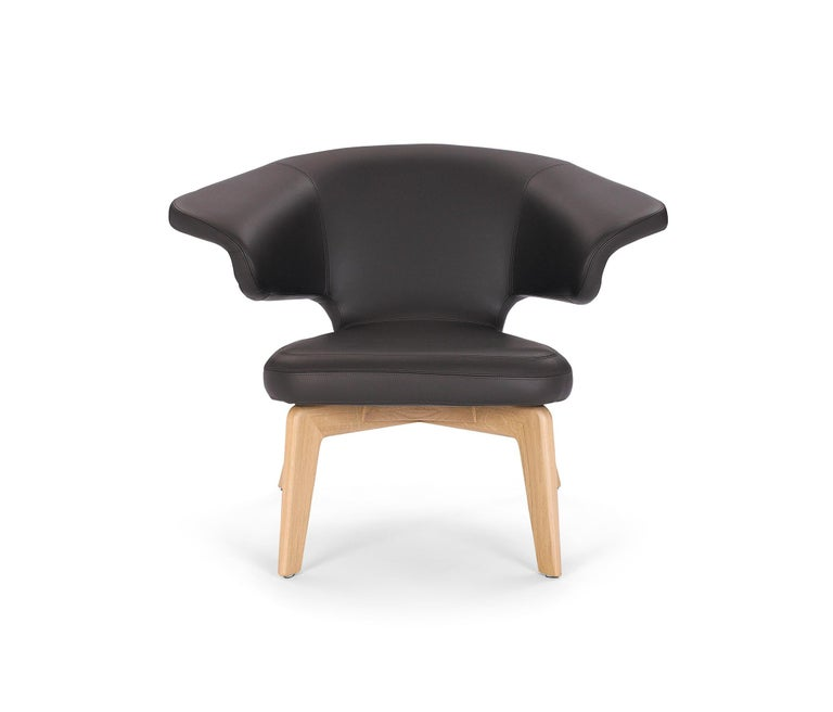 ClassiCon Munich Lounge in Leather by Sauerbruch Hutton For Sale 1
