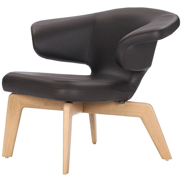 ClassiCon Munich Lounge in Leather by Sauerbruch Hutton For Sale