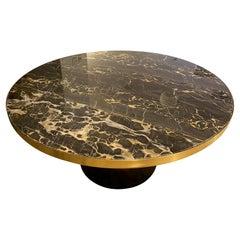 Classicon Nero Portoro Marble Top Bell Coffee Table by  Sebastian Herkner