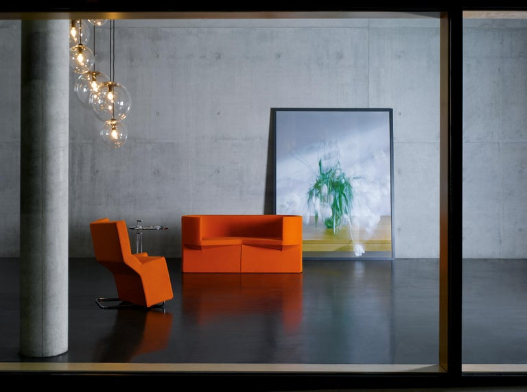 German ClassiCon Odin Sofa in Raf Simons Velvet by Konstantin Grcic For Sale