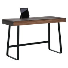 ClassiCon Pegasus Desk in Walnut with Black Base by IF Group & Tilla Goldberg