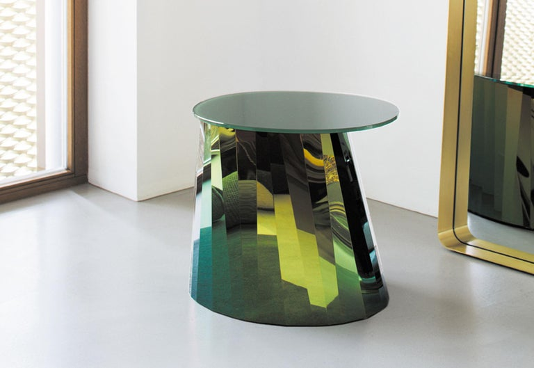 German ClassiCon Pli Low Side Table in Green by Victoria Wilmotte For Sale