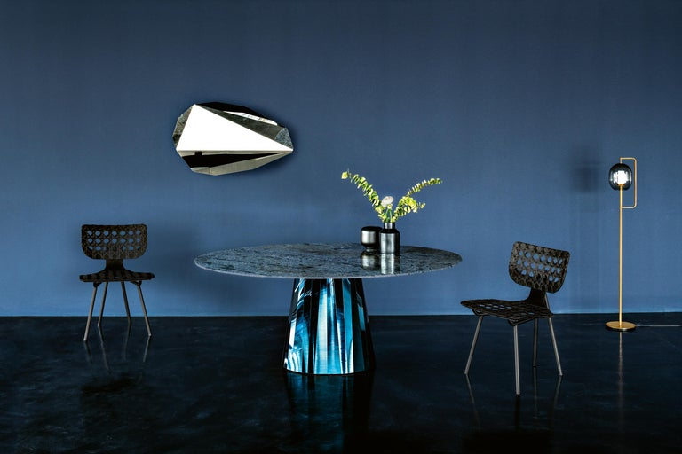 ClassiCon Pli Table in Blue with Lacquer Top by Victoria Wilmotte For Sale 2