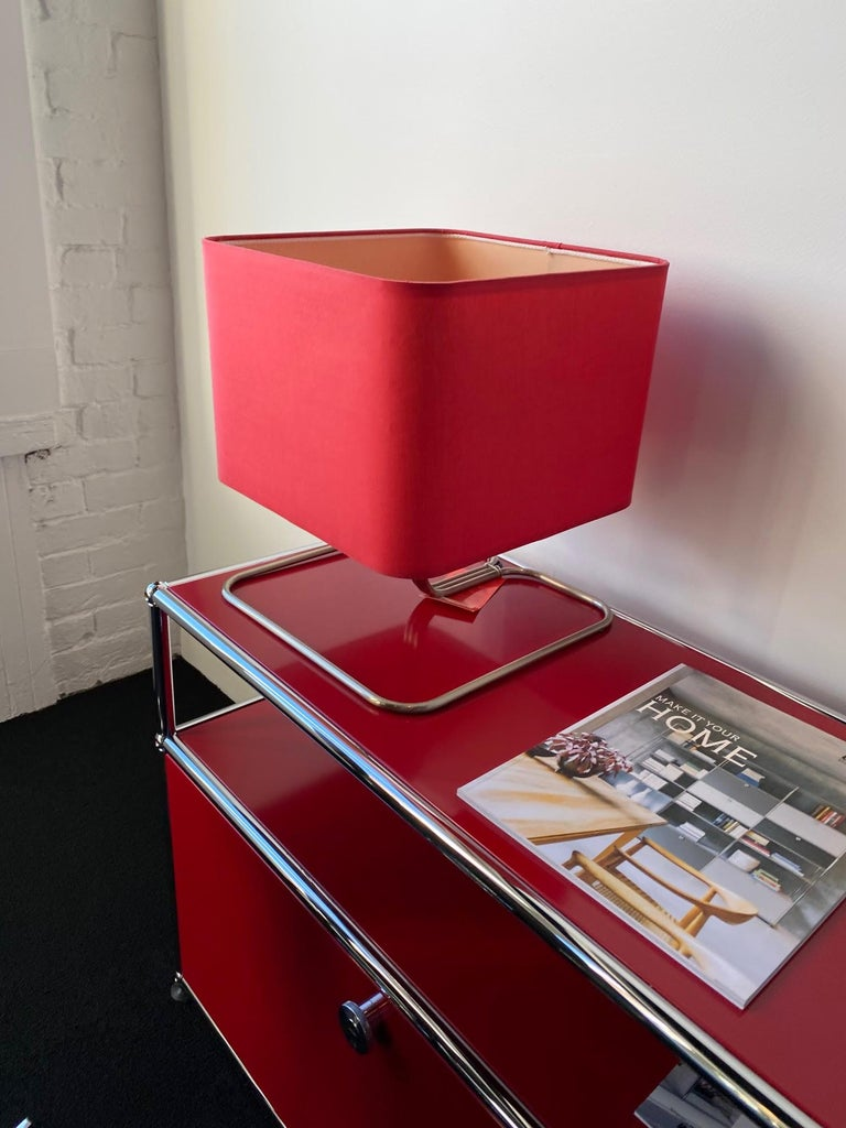 German ClassiCon Red Lampetia Table Lamp For Sale