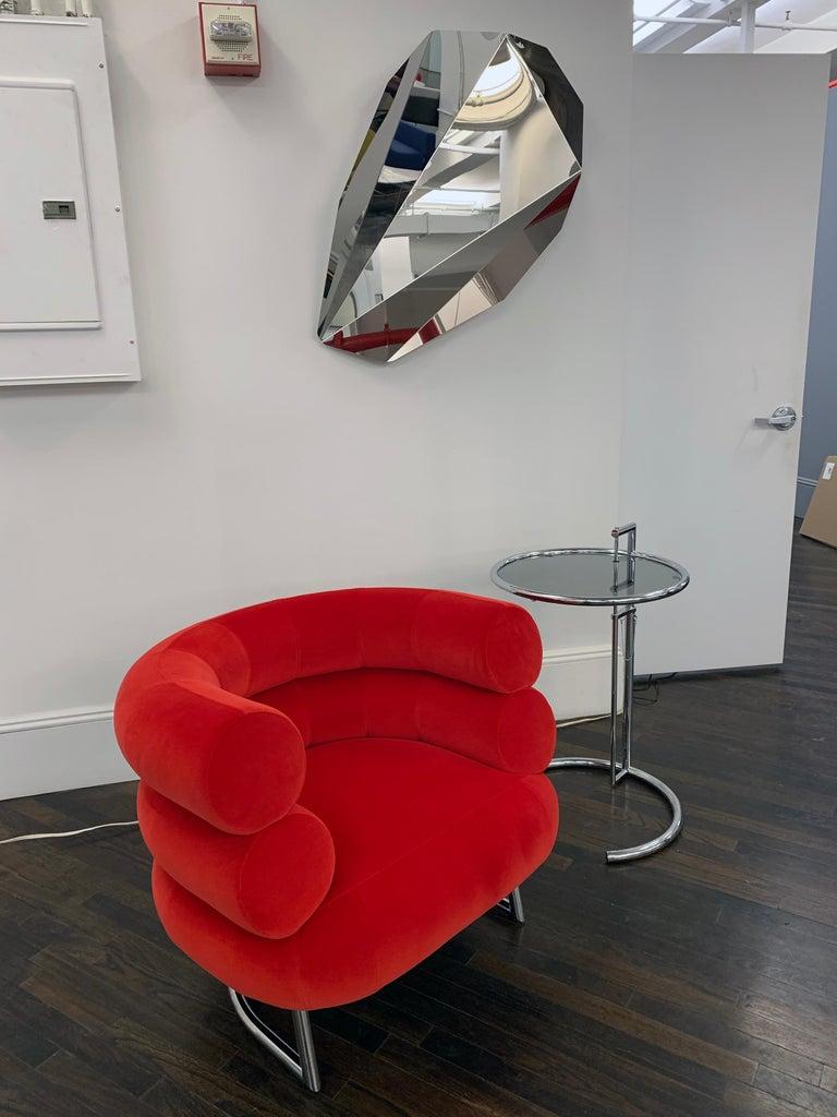 Classicon Red Velvet Bibendum Lounge Chair by Eileen Gray For Sale 2