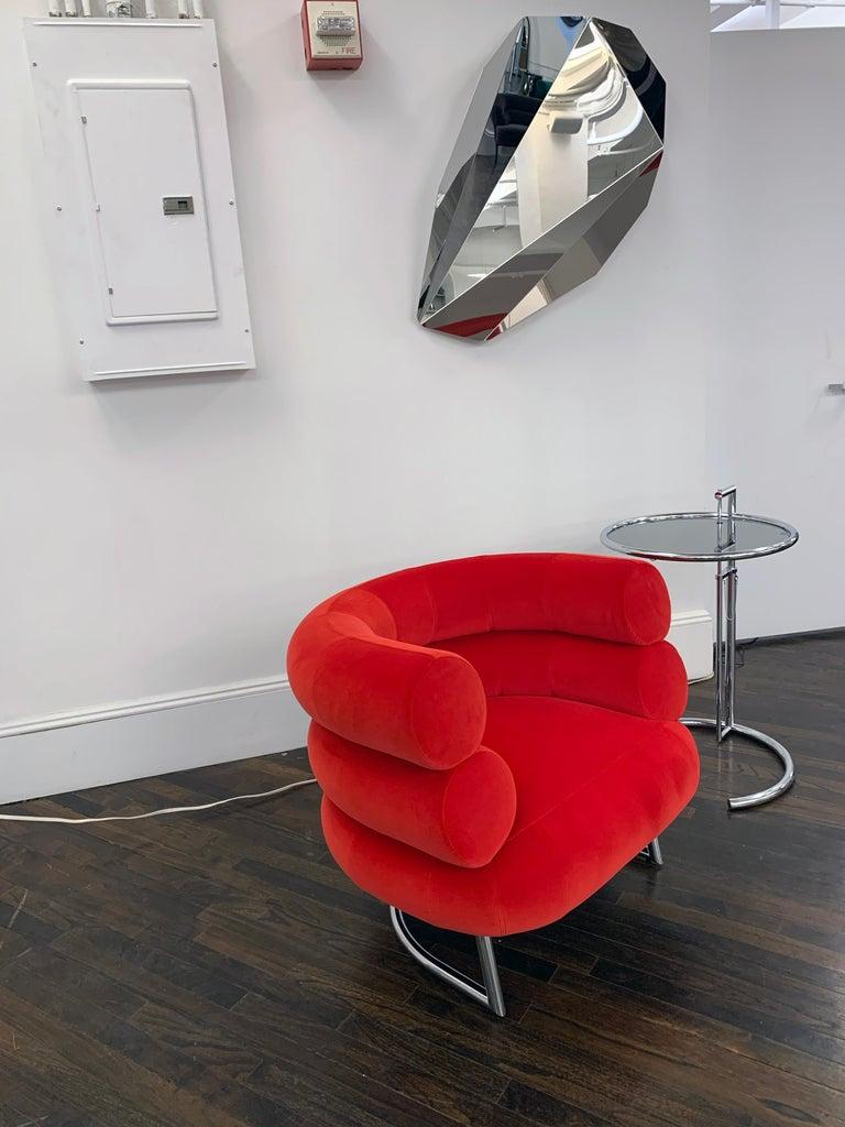Classicon Red Velvet Bibendum Lounge Chair by Eileen Gray For Sale 3