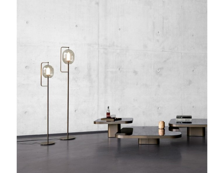 German ClassiCon Set of Two  Lantern Light Floor Lamps For Sale