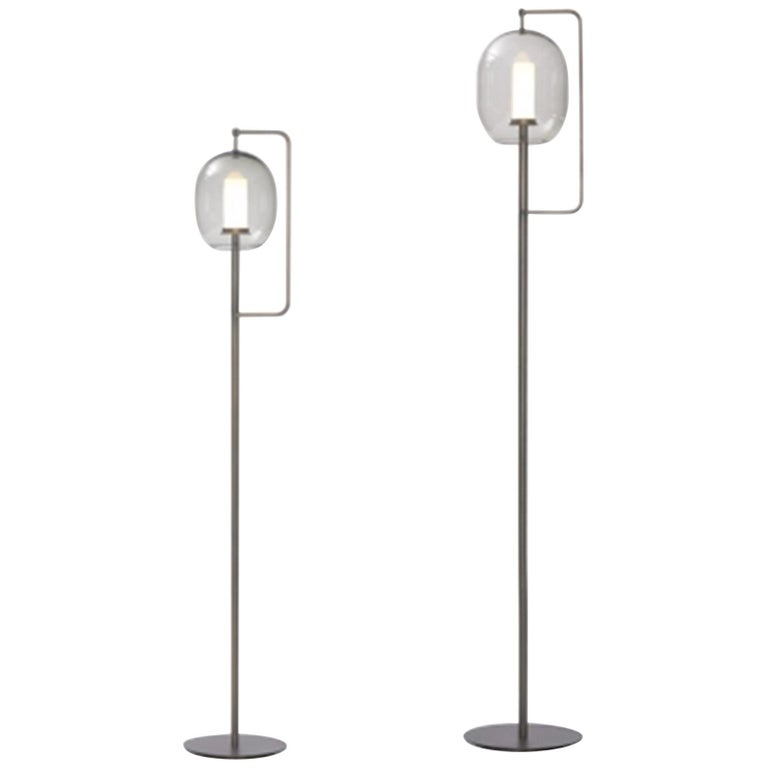 ClassiCon Set of Two  Lantern Light Floor Lamps For Sale