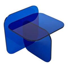ClassiCon Sol Royal Blue Glass Side Table Designed by Ortega & Guijarro