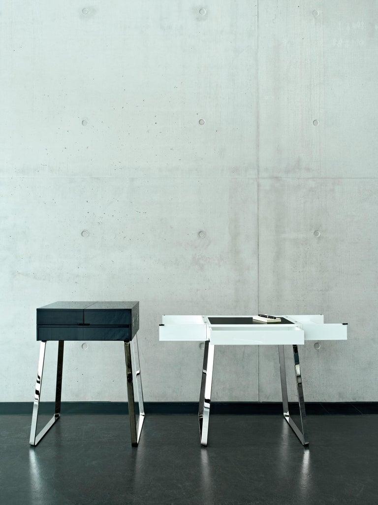 German ClassiCon Zelos Fold-Out Secretary Desk in Walnut by Christoph Böninger For Sale