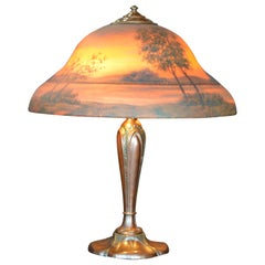 Classique Sunset Landscape Table Lamp, circa 1920