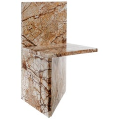 Claste and Here I Sit Hall Chair in Temptation Marble
