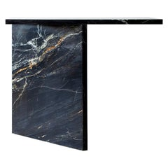 Claste and So I Stand Console in Belvedere Black Marble