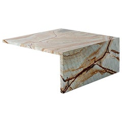 Claste Two Sides of Solitude Large Coffee Table in Blue Mare Marble