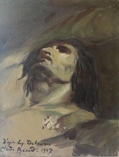 """"""" D'apres Delacroix"""" Impressionist Portrait, Signed Oil Painting"""