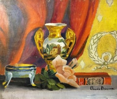 Colourful Still Life, Impressionist Oil Painting, Signed