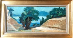 French Landscape, Post Impressionist Signed Oil Painting