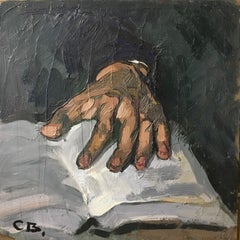 Impressionist Close Up of a Hand, Oil Painting, Signed