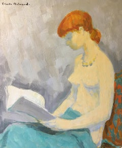 Lady with the Orange Hair, French Oil Painting