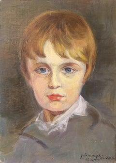 """""""Le Roi de Rome, d'apres Laurance"""", Impressionist Portrait, Signed"""