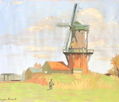 'Moulin á Dokkum', Impressionist Signed Oil Painting