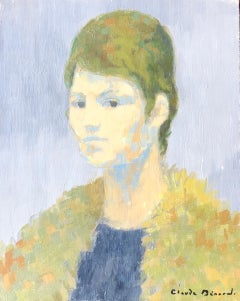 Portrait of Woman, Signed Oil Painting