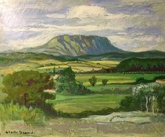 St. Victoire Impressionist Rural Landscape, Signed Oil Painting