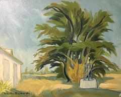 Villa aux Sables Vigniers, Impressionist Landscape, Oil Painting, Signed