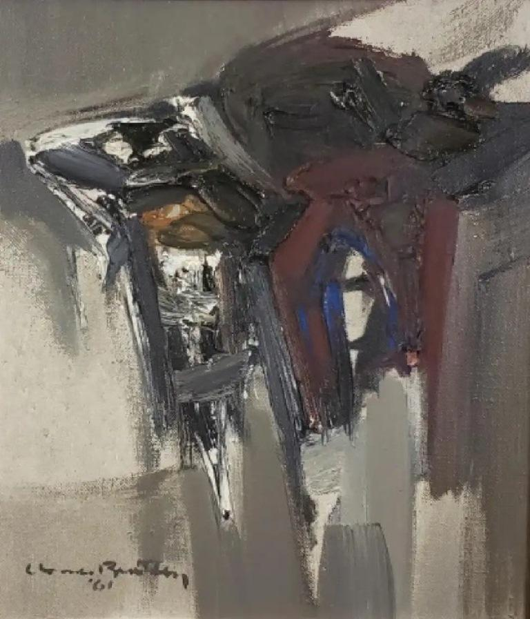 Claude Bentley Abstract Painting - Composition 61