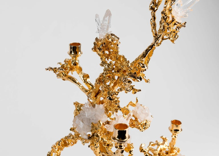 American Claude Boeltz, Bronze Eclaté Candelabrum, United States, 2019 For Sale