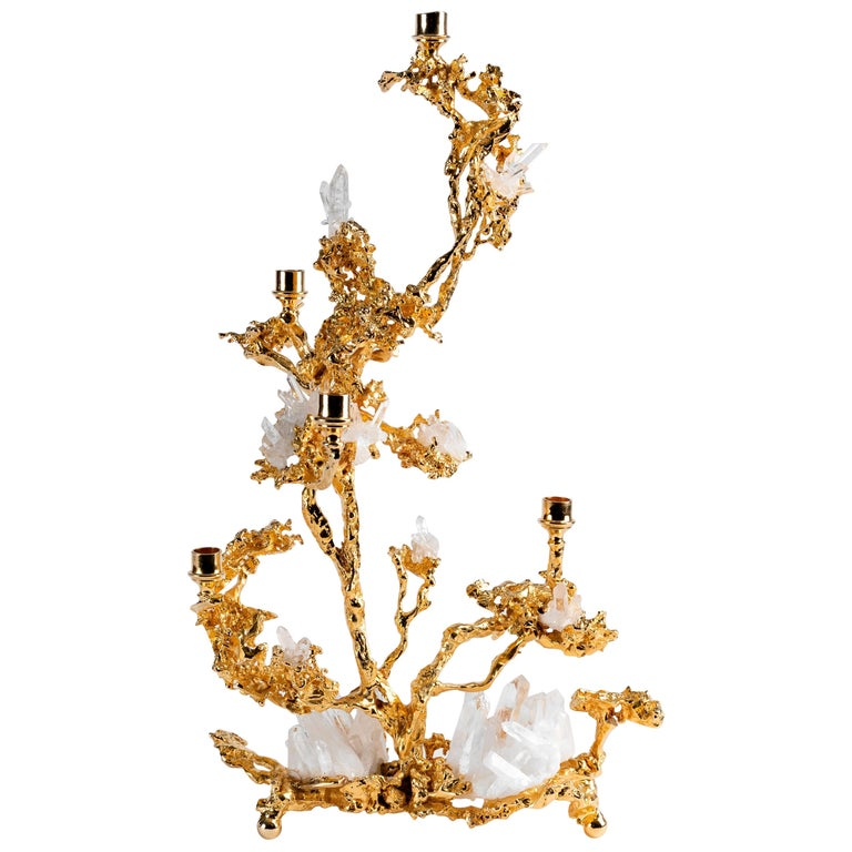 Claude Boeltz, Bronze Eclaté Candelabrum, United States, 2019 For Sale
