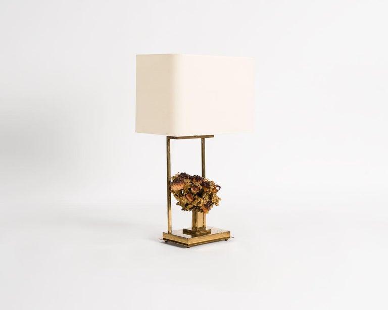 French Claude Boeltz, Bronze Eclaté Table Lamp, France, circa 1970 For Sale
