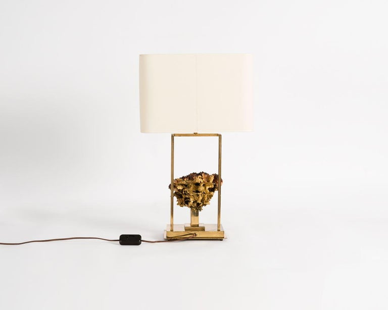 Claude Boeltz, Bronze Eclaté Table Lamp, France, circa 1970 In Good Condition For Sale In New York, NY