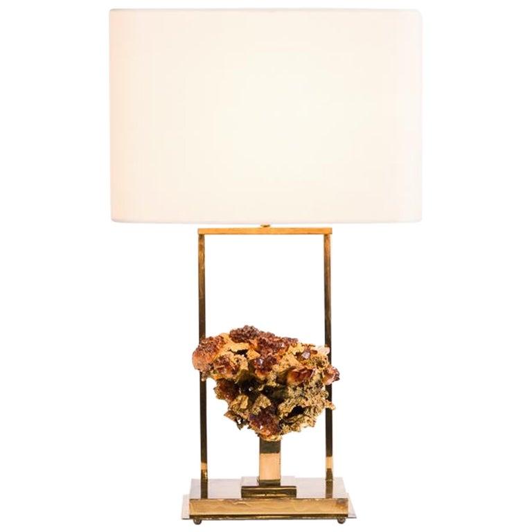 Claude Boeltz, Bronze Eclaté Table Lamp, France, circa 1970 For Sale