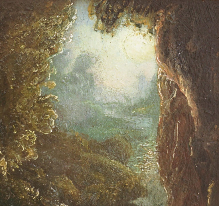 Early 20th Century Allegorical Landscape -- Blue Nocturnal  - Symbolist Painting by Claude Buck