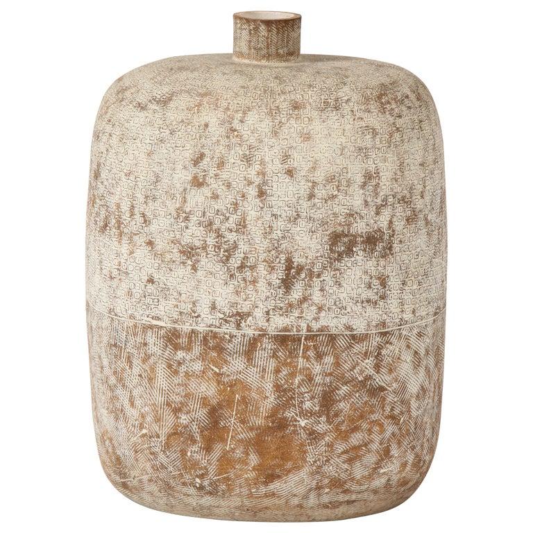 """Claude Conover """"Blueb"""" Ceramic Vessel For Sale"""