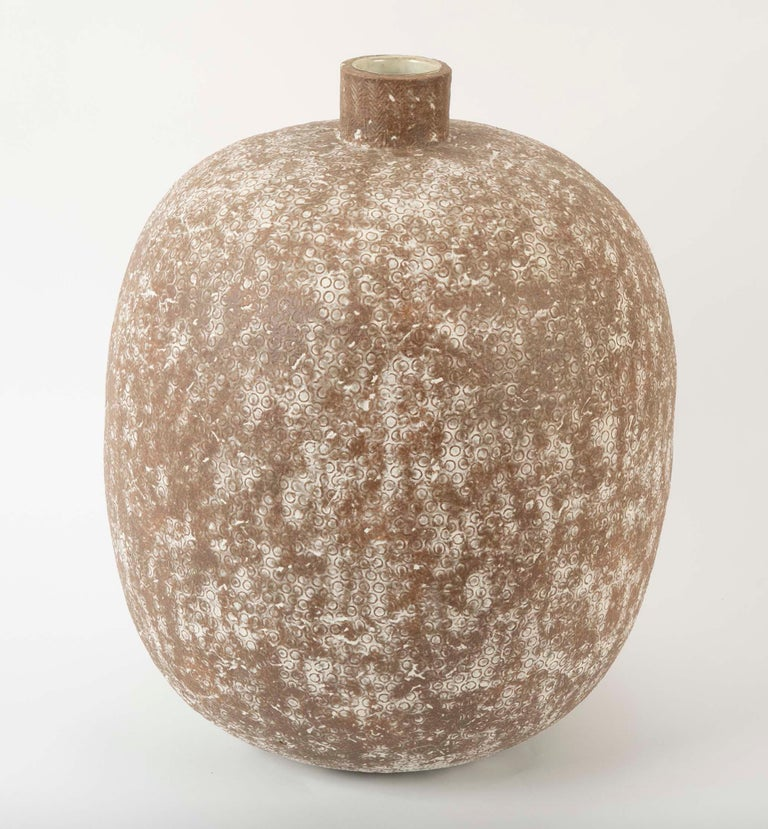 A large stoneware vessel by Claude Conover (American 1907-1994) titled