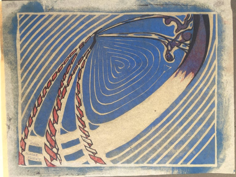SWING BOATS - Futurist Print by Claude Flight