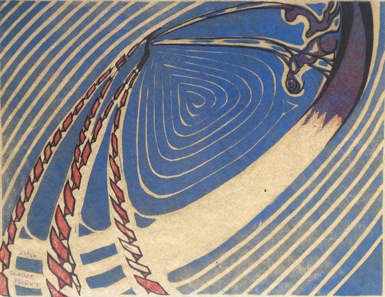 Claude Flight Abstract Print - SWING BOATS