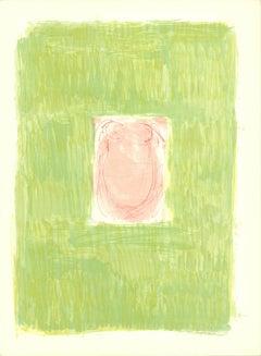 "Claude Garache-Derriere le Miroir-15"" x 11""-Lithograph-1965-Abstract-Pastel"