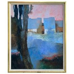 Claude Gaveau, Le Petit Étang 'The Little Pond' Original Oil on Canvas