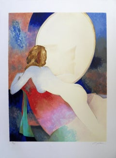 Nude with a Miror - Original handsigned lithograph
