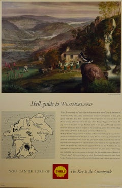 Claude Harrison Shell Guide to Westmoreland travel poster Modern British Art