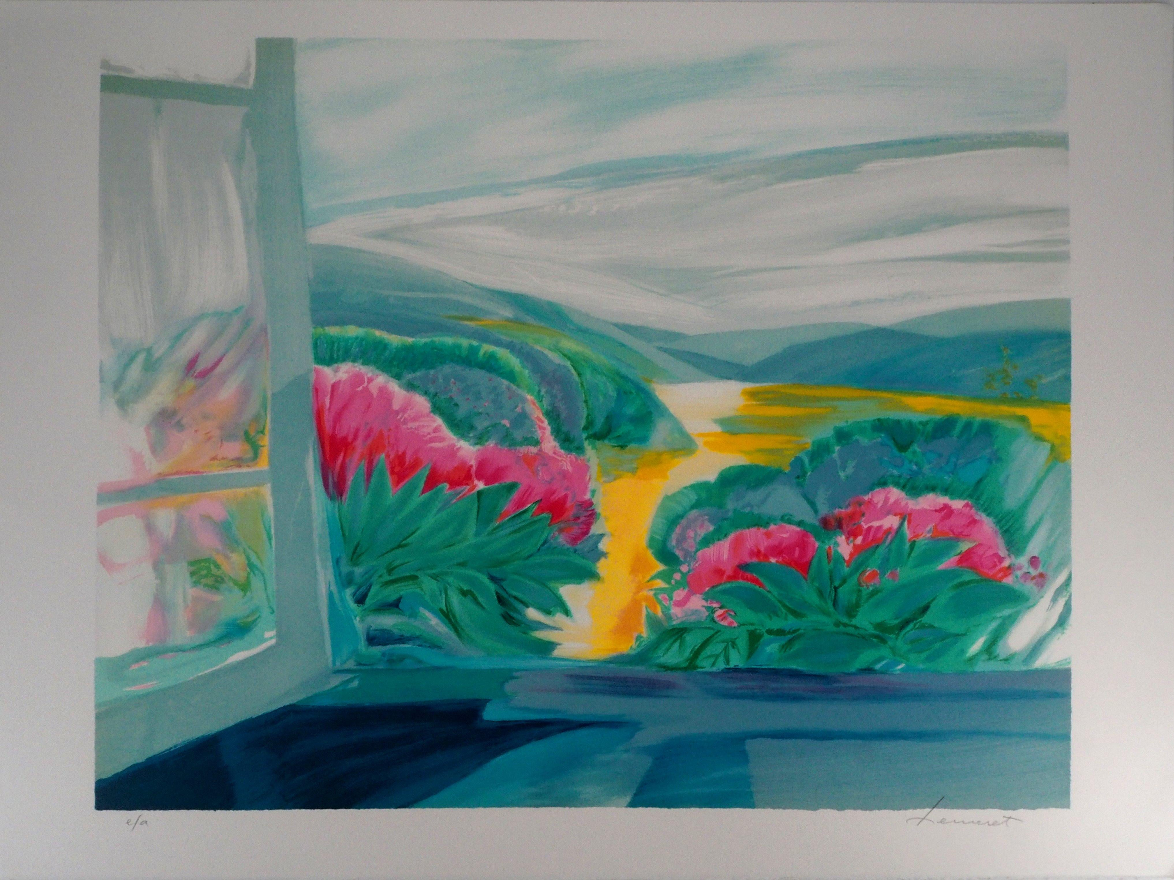 Spring, the Flower Valley -  Original Lithograph, Handsigned
