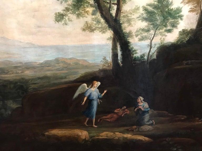 Enormous Classical Landscape, Hagar & The Angel - Black Landscape Painting by Claude Lorrain (circle of)