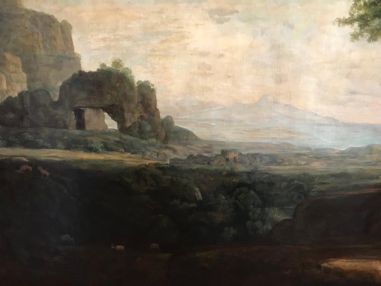 Enormous Classical Landscape, Hagar & The Angel For Sale 1