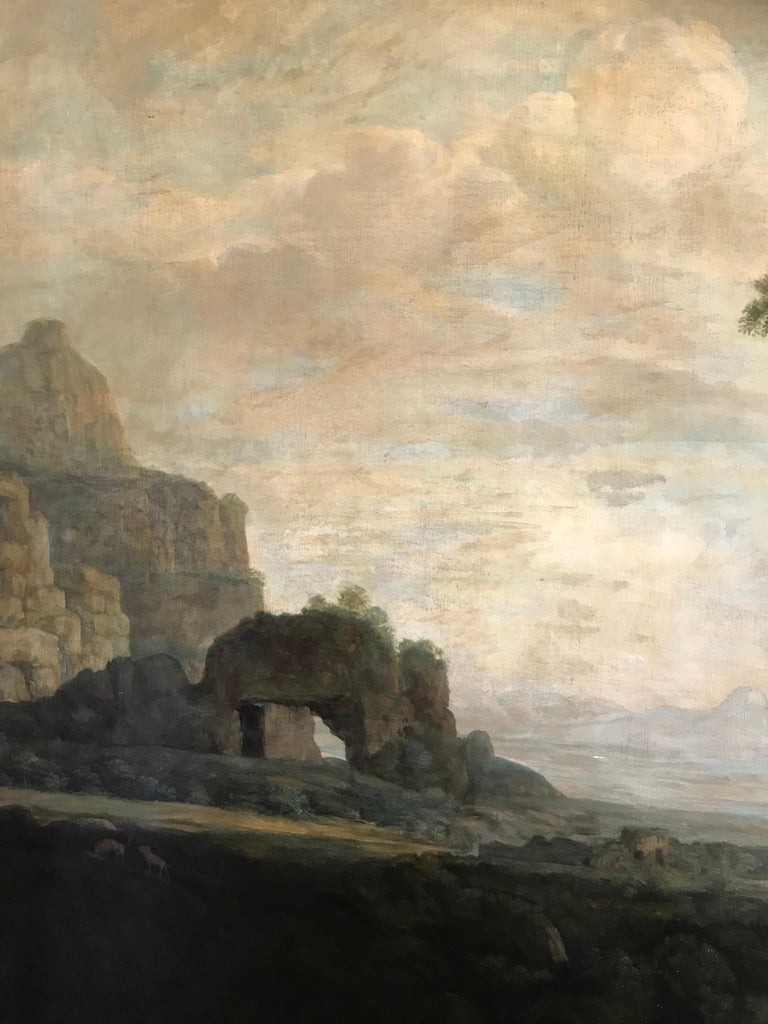Enormous Classical Landscape, Hagar & The Angel For Sale 2
