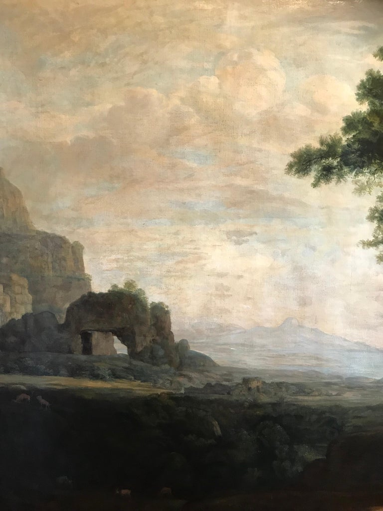 Enormous Classical Landscape, Hagar & The Angel For Sale 3