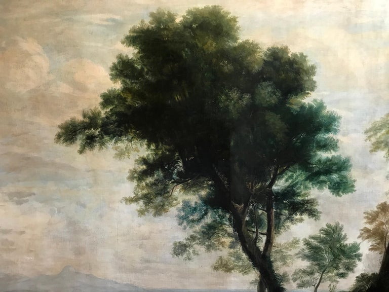 Enormous Classical Landscape, Hagar & The Angel For Sale 4