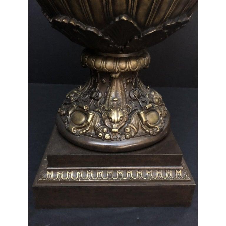 Claude Michel Clodion Doré Patinated and Gilt Bronze Vase For Sale 2